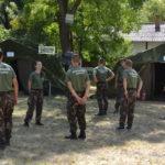 Honvédelmi tábor Szentesen, a laktanyában