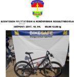 Kerékpárregisztráció a Posta előtt
